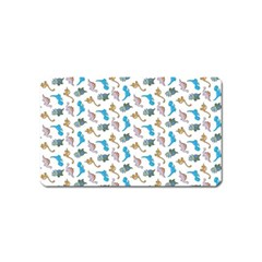 Dinosaurs Pattern Magnet (name Card) by ValentinaDesign
