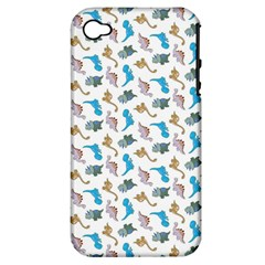 Dinosaurs Pattern Apple Iphone 4/4s Hardshell Case (pc+silicone) by ValentinaDesign