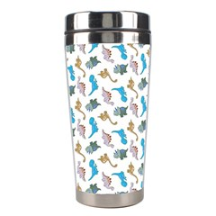 Dinosaurs Pattern Stainless Steel Travel Tumblers by ValentinaDesign