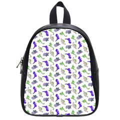 Dinosaurs Pattern School Bags (small)  by ValentinaDesign