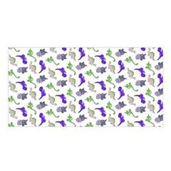 Dinosaurs Pattern Satin Shawl by ValentinaDesign