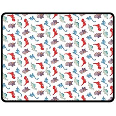 Dinosaurs Pattern Double Sided Fleece Blanket (medium)  by ValentinaDesign