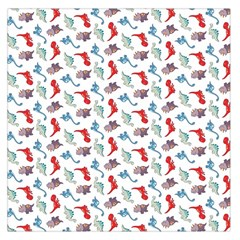 Dinosaurs Pattern Large Satin Scarf (square) by ValentinaDesign