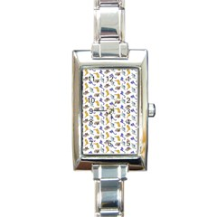 Dinosaurs Pattern Rectangle Italian Charm Watch by ValentinaDesign