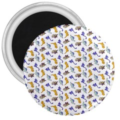 Dinosaurs Pattern 3  Magnets by ValentinaDesign