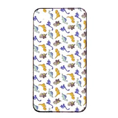 Dinosaurs Pattern Apple Iphone 4/4s Seamless Case (black) by ValentinaDesign