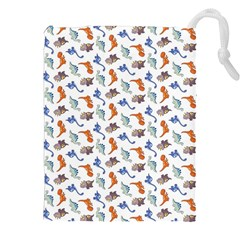 Dinosaurs Pattern Drawstring Pouches (xxl) by ValentinaDesign