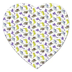 Dinosaurs Pattern Jigsaw Puzzle (heart) by ValentinaDesign