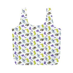Dinosaurs Pattern Full Print Recycle Bags (m)  by ValentinaDesign