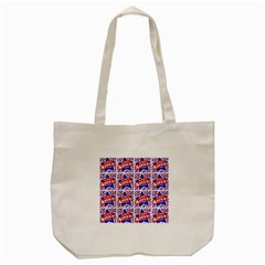 Happy 4th Of July Theme Pattern Tote Bag (cream) by dflcprints