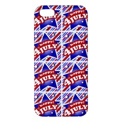 Happy 4th Of July Theme Pattern Apple Iphone 5 Premium Hardshell Case by dflcprints