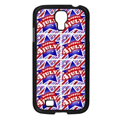 Happy 4th Of July Theme Pattern Samsung Galaxy S4 I9500/ I9505 Case (black) by dflcprints