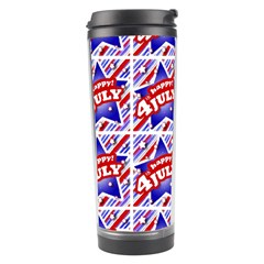 Happy 4th Of July Theme Pattern Travel Tumbler by dflcprints