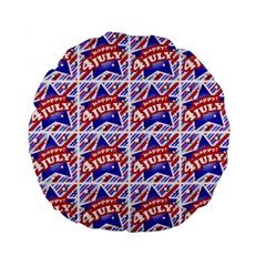 Happy 4th Of July Theme Pattern Standard 15  Premium Flano Round Cushions by dflcprints