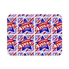 Happy 4th Of July Theme Pattern Double Sided Flano Blanket (mini)  by dflcprints