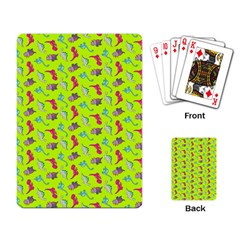 Dinosaurs Pattern Playing Card by ValentinaDesign