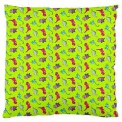 Dinosaurs Pattern Large Flano Cushion Case (one Side) by ValentinaDesign