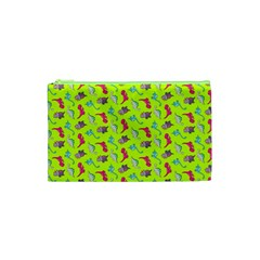 Dinosaurs Pattern Cosmetic Bag (xs) by ValentinaDesign