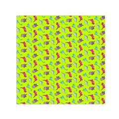 Dinosaurs Pattern Small Satin Scarf (square) by ValentinaDesign