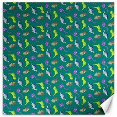 Dinosaurs Pattern Canvas 12  X 12   by ValentinaDesign