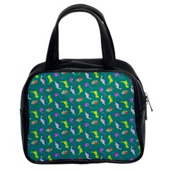 Dinosaurs Pattern Classic Handbags (2 Sides) by ValentinaDesign