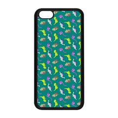Dinosaurs Pattern Apple Iphone 5c Seamless Case (black) by ValentinaDesign