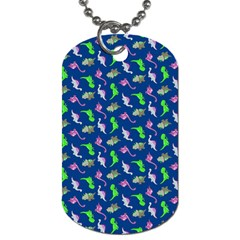 Dinosaurs Pattern Dog Tag (two Sides) by ValentinaDesign