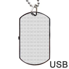 Pattern Dog Tag Usb Flash (two Sides) by ValentinaDesign