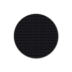 Pattern Rubber Coaster (round)  by ValentinaDesign