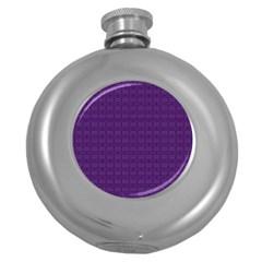 Pattern Round Hip Flask (5 Oz) by ValentinaDesign