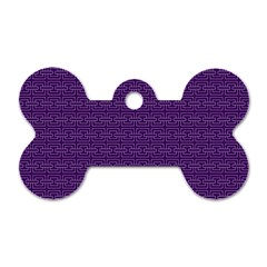 Pattern Dog Tag Bone (one Side) by ValentinaDesign