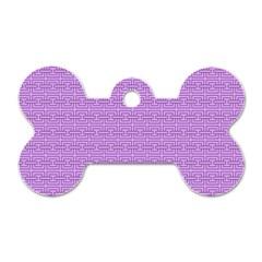 Pattern Dog Tag Bone (one Side) by ValentinaDesign