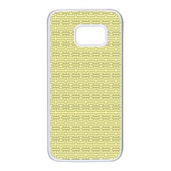 Pattern Samsung Galaxy S7 White Seamless Case by ValentinaDesign