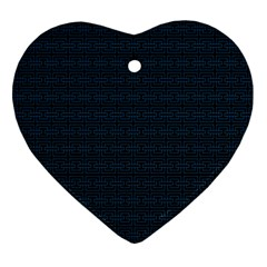 Pattern Heart Ornament (two Sides) by ValentinaDesign