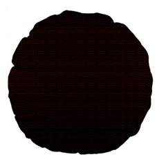 Pattern Large 18  Premium Round Cushions by ValentinaDesign