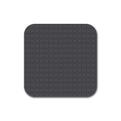 Pattern Rubber Square Coaster (4 Pack)  by ValentinaDesign