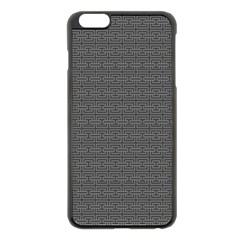 Pattern Apple Iphone 6 Plus/6s Plus Black Enamel Case by ValentinaDesign