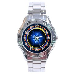 Power Core Stainless Steel Analogue Watch