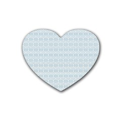 Pattern Rubber Coaster (heart)  by ValentinaDesign