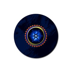 Power Core Rubber Round Coaster (4 Pack)