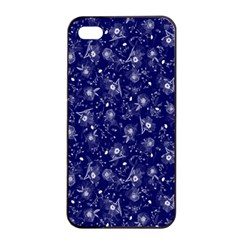 Floral Pattern Apple Iphone 4/4s Seamless Case (black) by ValentinaDesign