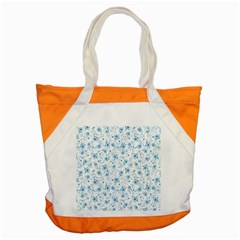 Floral Pattern Accent Tote Bag by ValentinaDesign