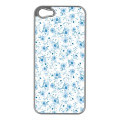 Floral Pattern Apple Iphone 5 Case (silver) by ValentinaDesign