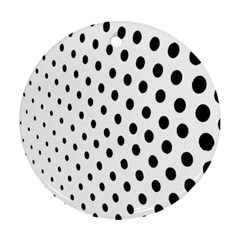 Polka Dot Black Circle Round Ornament (two Sides) by Mariart