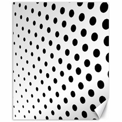 Polka Dot Black Circle Canvas 16  X 20   by Mariart