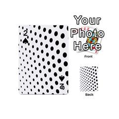 Polka Dot Black Circle Playing Cards 54 (mini)  by Mariart