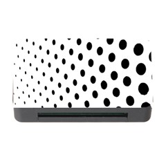 Polka Dot Black Circle Memory Card Reader With Cf by Mariart