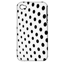 Polka Dot Black Circle Apple Iphone 4/4s Hardshell Case (pc+silicone) by Mariart