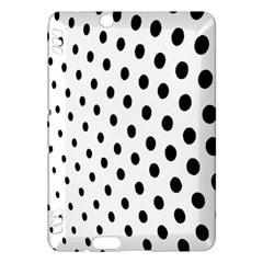 Polka Dot Black Circle Kindle Fire Hdx Hardshell Case by Mariart