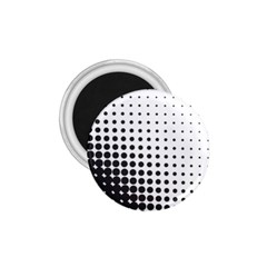 Comic Dots Polka Black White 1 75  Magnets by Mariart